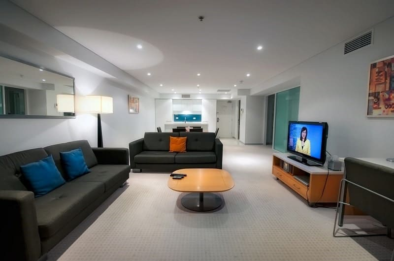 Hotels North Terrace Adelaide serviced apartments lounge room