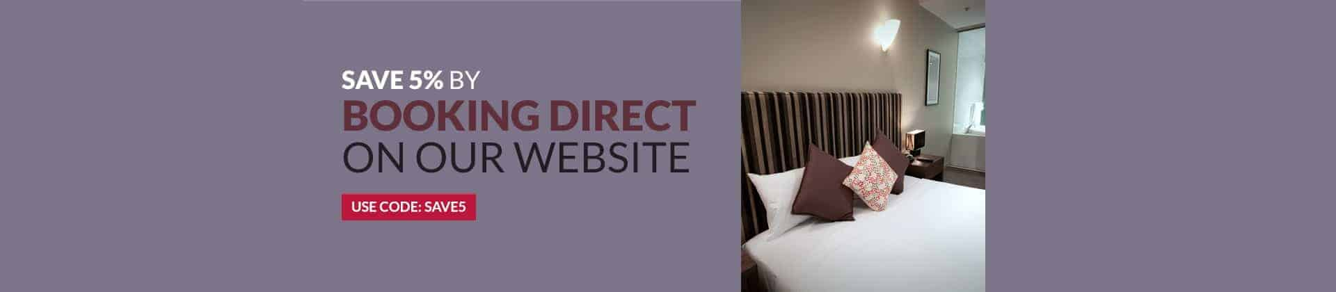 Book direct with La Loft hotel serviced apartments and save 5%